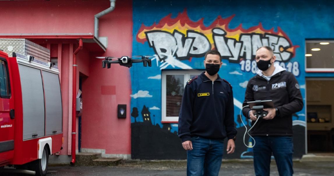 Donacija drona Dobrovoljnom vatrogasnom društvu Ivanec za nadolazeću protupožarnu sezonu